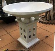 Bird Bath - 80cm high, 80cm dia bowl