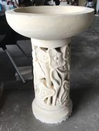 Bird Bath - 90cm high, 60cm dia bowl