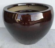 Squat Pot - Brown