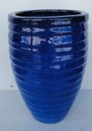 Lapped Water Jar - Blue