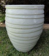 Lapped Water Jar - White
